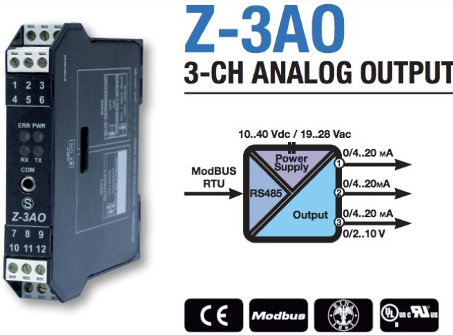bộ chuyển đổi modbus ra analog 4-20ma