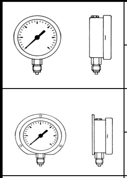 các loại đồng hồ đo áp suât chân đứng