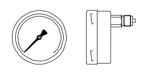 đồng hồ đo áp suất chân sau vị trí 12h