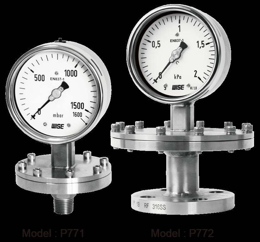 đồng hồ áp suất màng Wise