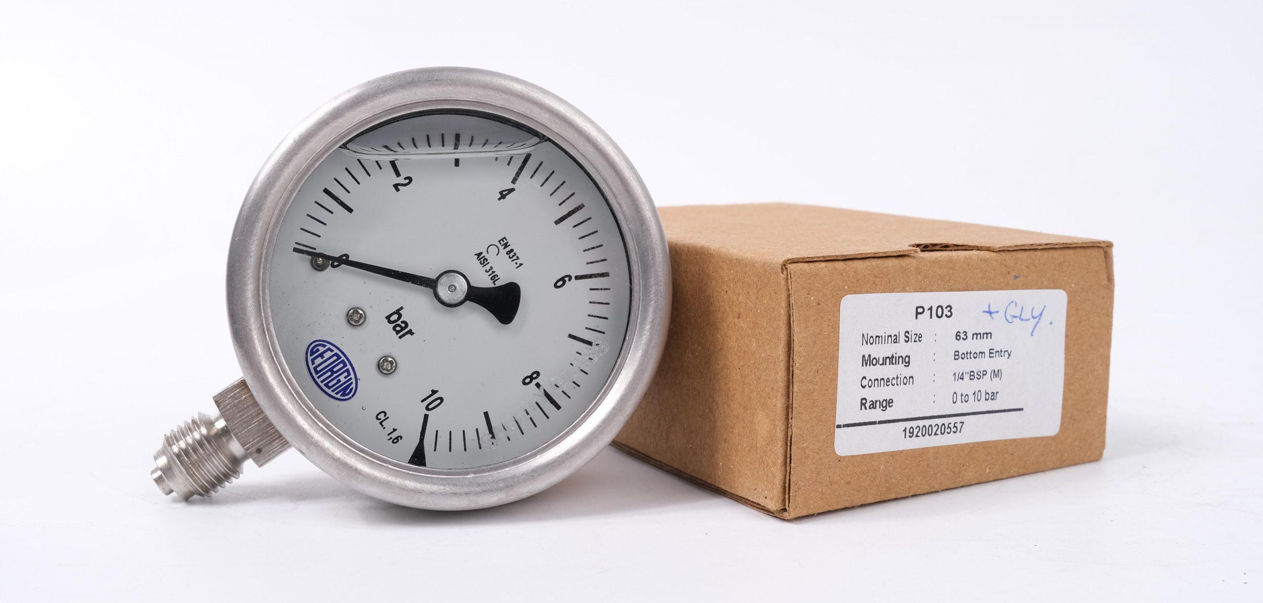 Đồng hồ đo áp suất 0-10 bar M5000 | Georgin - Pháp