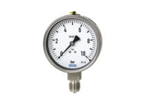 đồng hồ đo áp suất chân đứng mặt 100mm