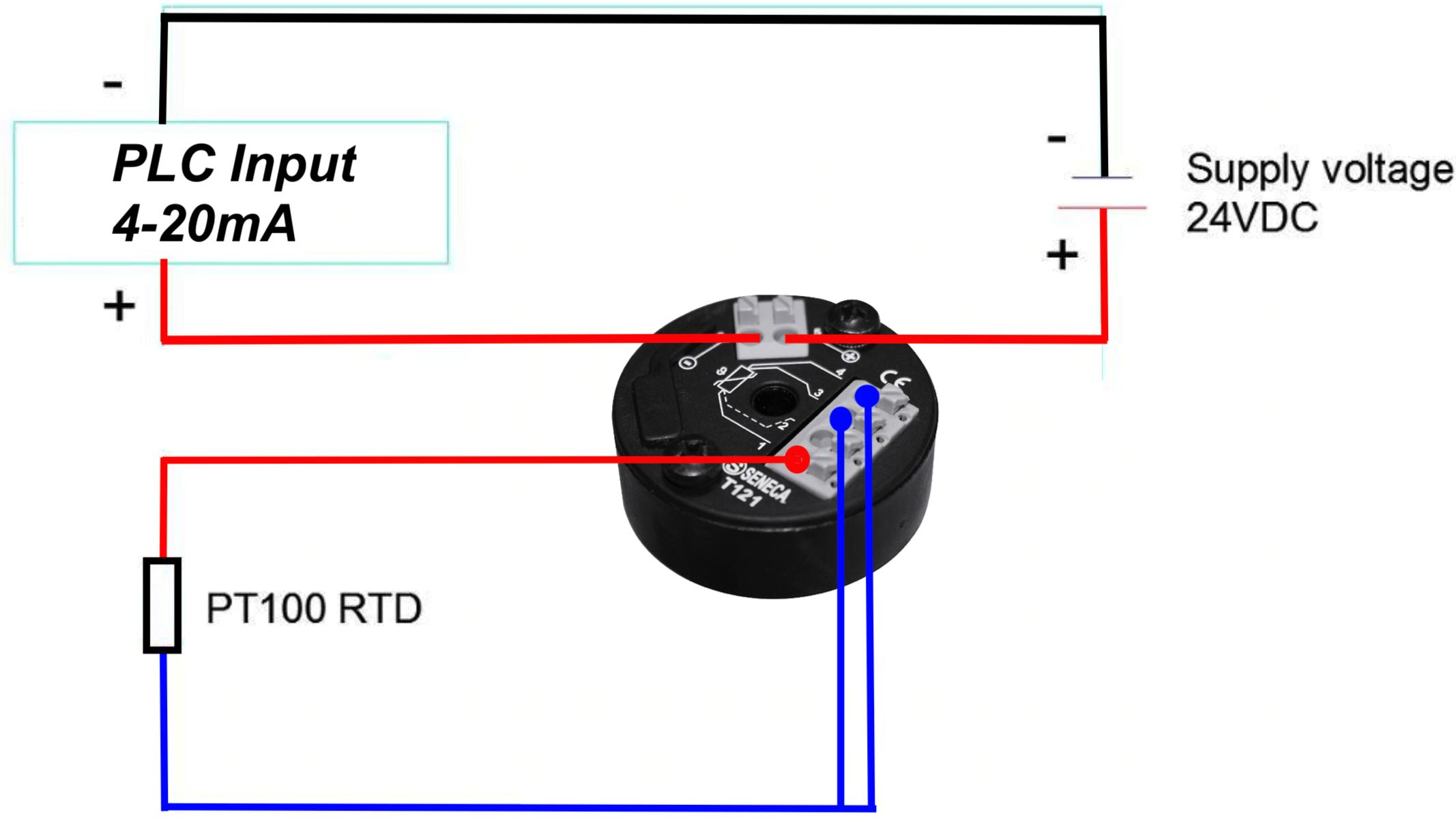 kết nối bộ chuyển đổi tín hiệu nhiệt độ T121