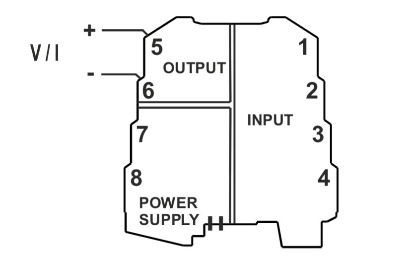 kết nối ngõ ra bộ chuyển đổi nhiệt độ K109Pt