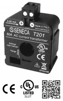 CT dòng analog 4-20mA T201 Seneca