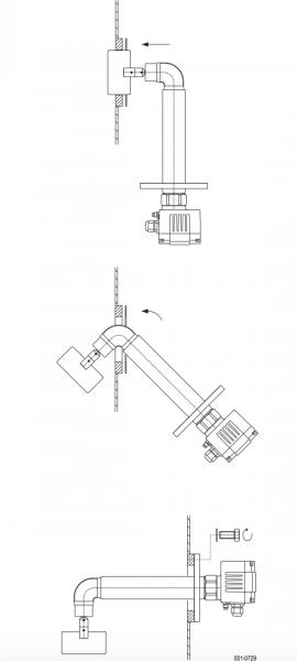 cách lắp đặt cảm biến báo mức cánh xoay DF25