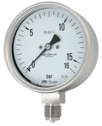 đồng hồ đo áp suất 0-16 bar inox