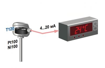 bộ chuyển đổi nhiệt độ gắn trên đầu cảm biến nhiệt độ