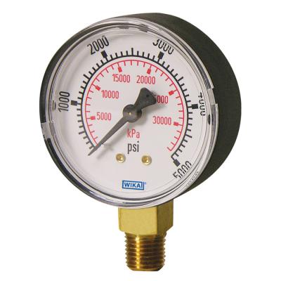 đồng hồ đo áp suất wika chân đồng