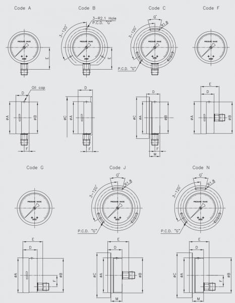 thông số đồng hồ đo áp suất wise 1