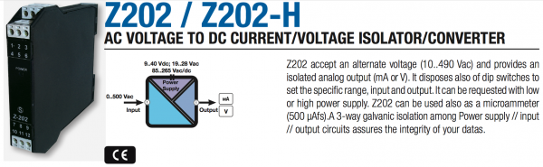 bộ chuyển đổi điện áp AC sang 4-20mA