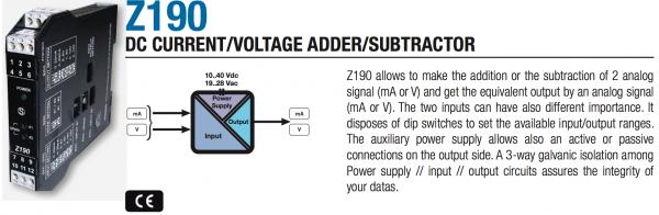 bộ cộng trừ tín hiệu analog 4-20mA 0-10V