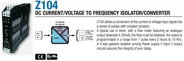 bộ chuyển đổi 4-20mA ra tín hiệu xung
