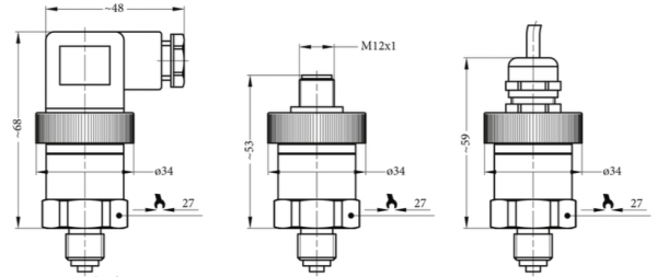 kết nối ngõ ra 4-20mA cảm biến áp suất khí nén