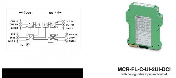 bộ chia tín hiệu 4-20mA MCR-FL-C-UI-2UI-DCI-NC - 2814867
