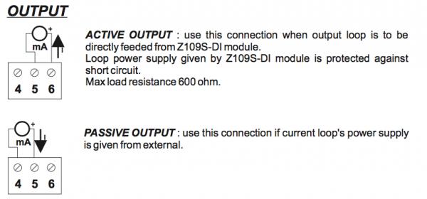 lắp đặt output bộ cách ly tín hiệu 4-20mA Z109S-DI