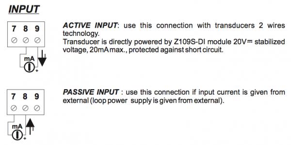 input bộ cách ly tín hiệu 4-20mA Z109S-DI