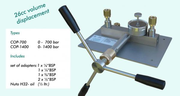 thiết bị hiệu chuẩn áp suất CPO 700 - CPO 1400