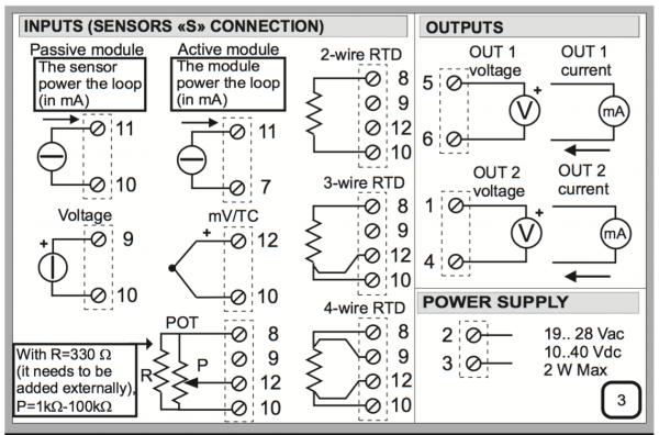 sơ đồ đấu dây bộ chia tín hiệu 4-20mA Z170REG