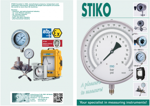 các loại đồng hồ đo áp suất stiko