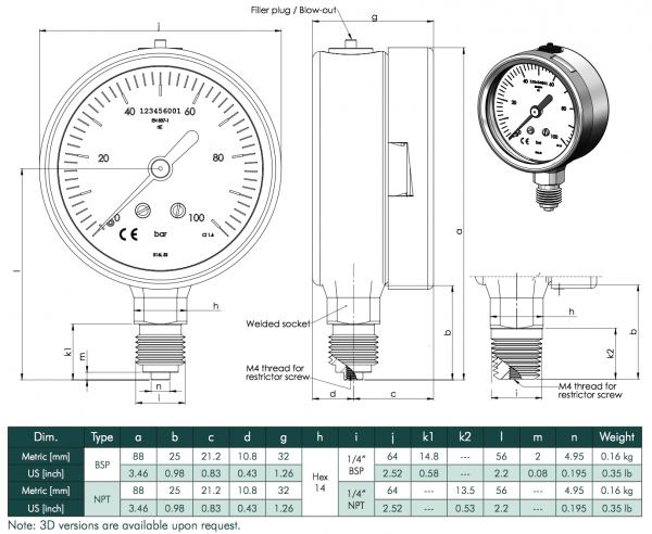 cấu tạo đồng hồ đo áp suât chân đứng
