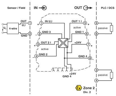 sơ đổ kết nối Mini MCR-SL-UI-21 Phoenix contact
