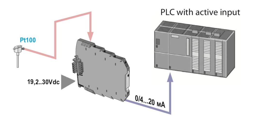 ứng dụng bộ chuyển đổi nhiệt độ pt100 K109Pt