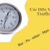 Các đơn vị đo áp suất bar - psi - mpa - pa
