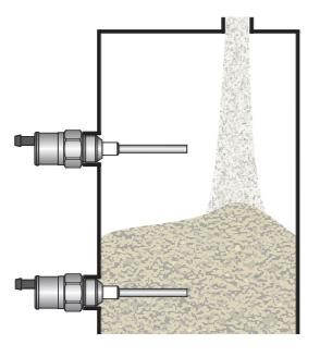 cảm biến đo mức chất rắn tiếp điểm PNP