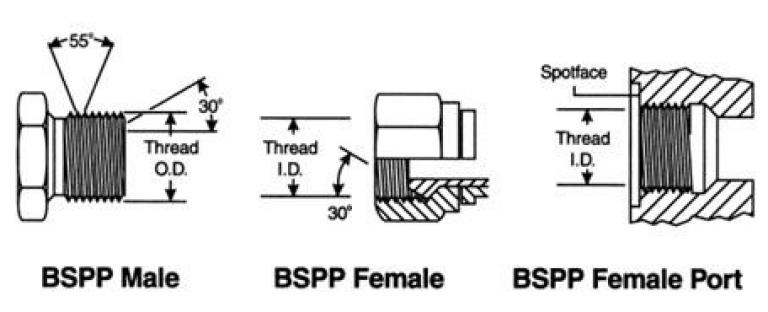 chuẩn kết nối ren bspp