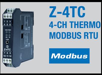 Bộ Chuyển Đổi Nhiệt Độ Z-4TC Ra Modbus