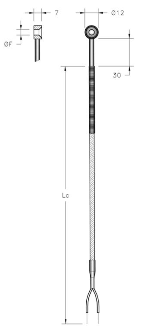 thông số cảm biến nhiệt độ loại đầu cod bạc đạn rỗng ở giữa