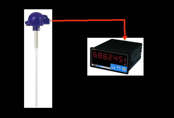 bộ hiển thị nhiệt độ pt100 can k