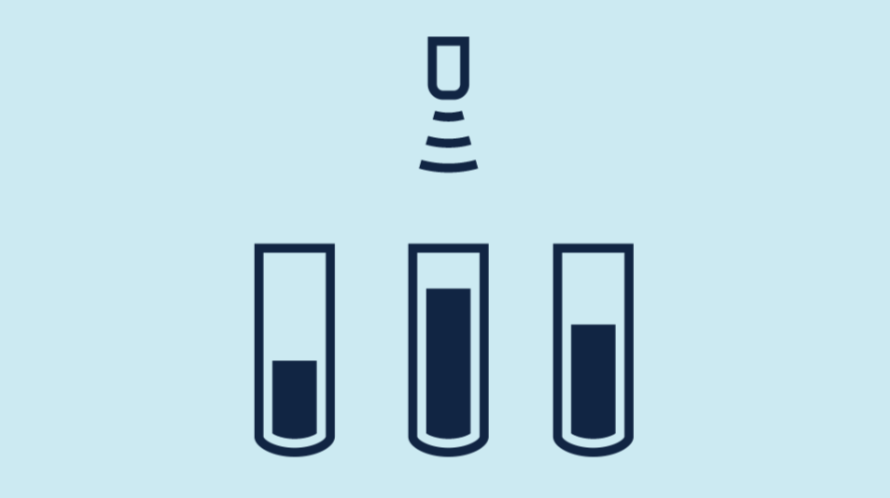 cảm biến siêu âm giám sát mức trong thí nghiệm