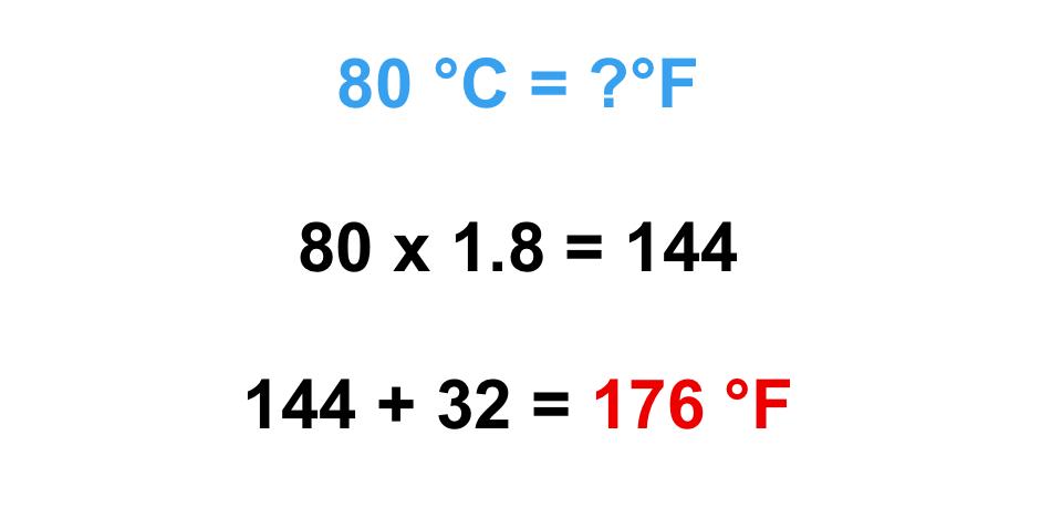 chuyển đổi độ C sang độ F