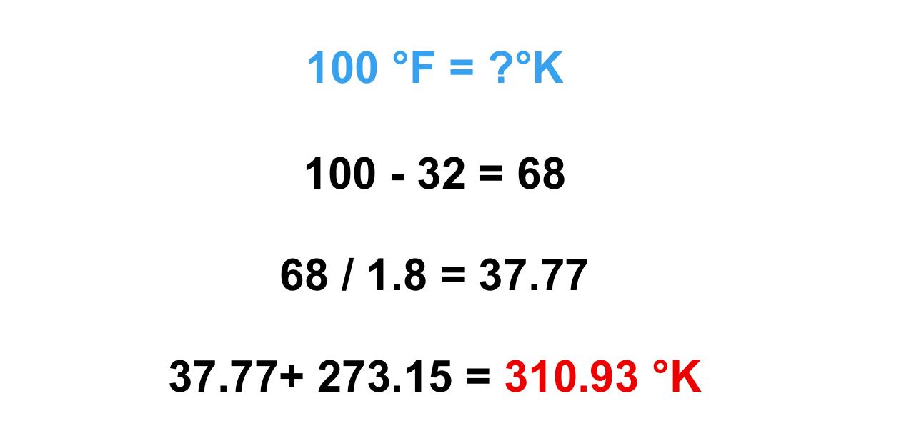 cách chuyển độ F sang độ K