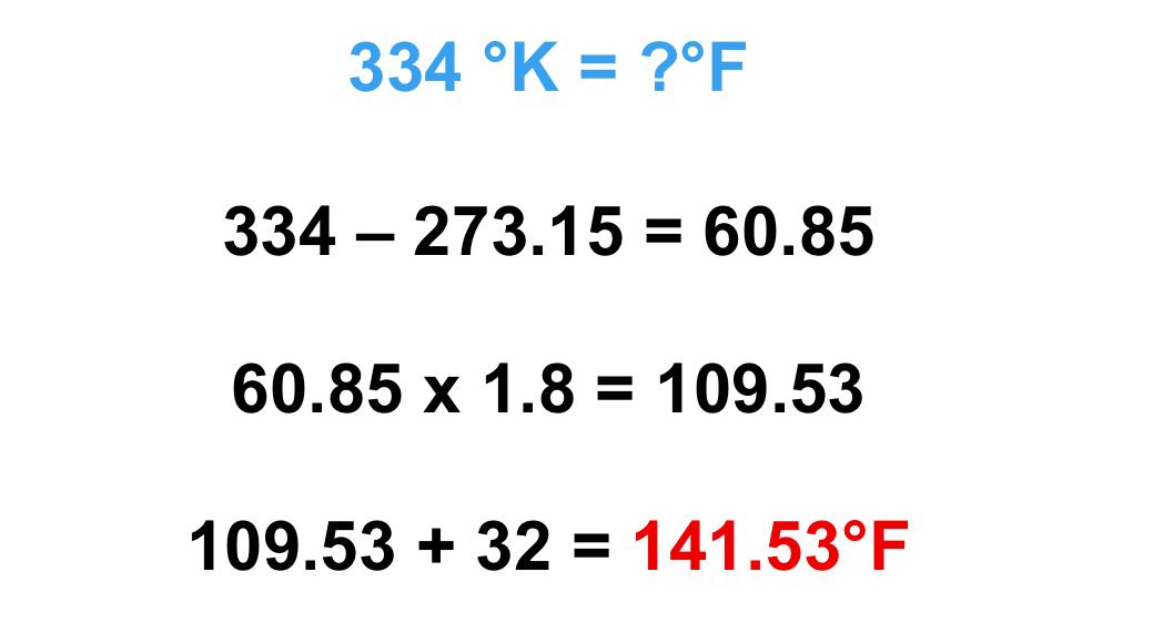 cách đổi độ K sang độ F chính xác nhất