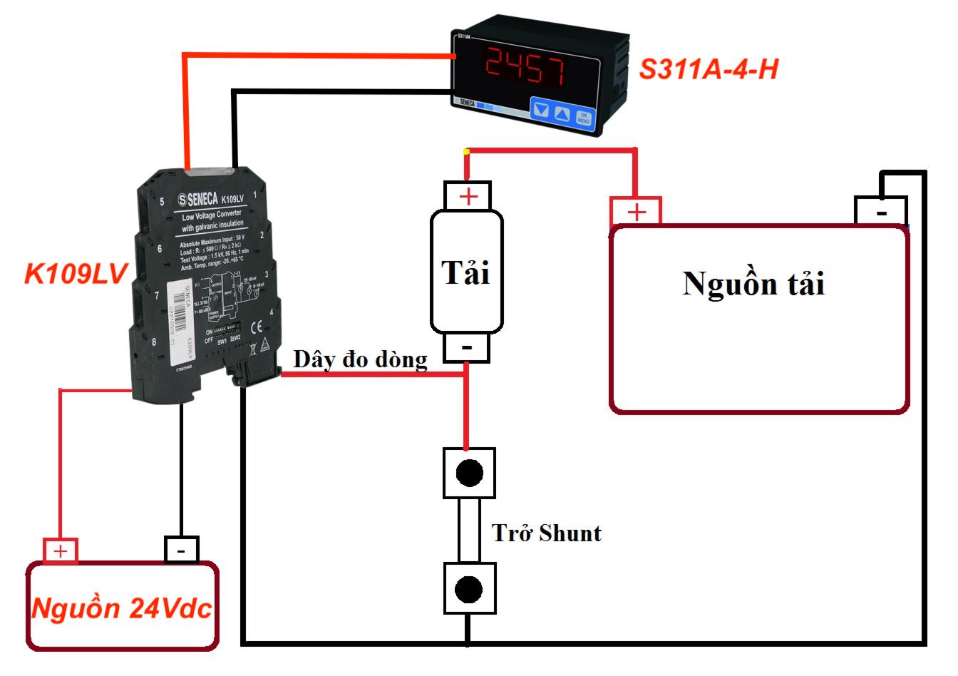 đo dòng điện bằng điện trở shunt