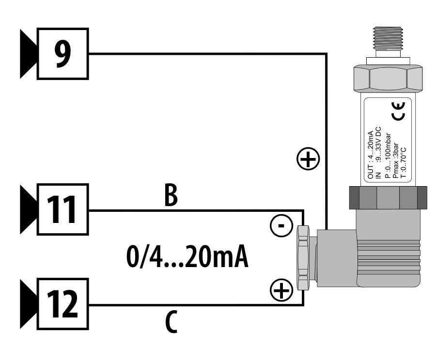 Cách đấu dây cảm biến áp suất 3 chân