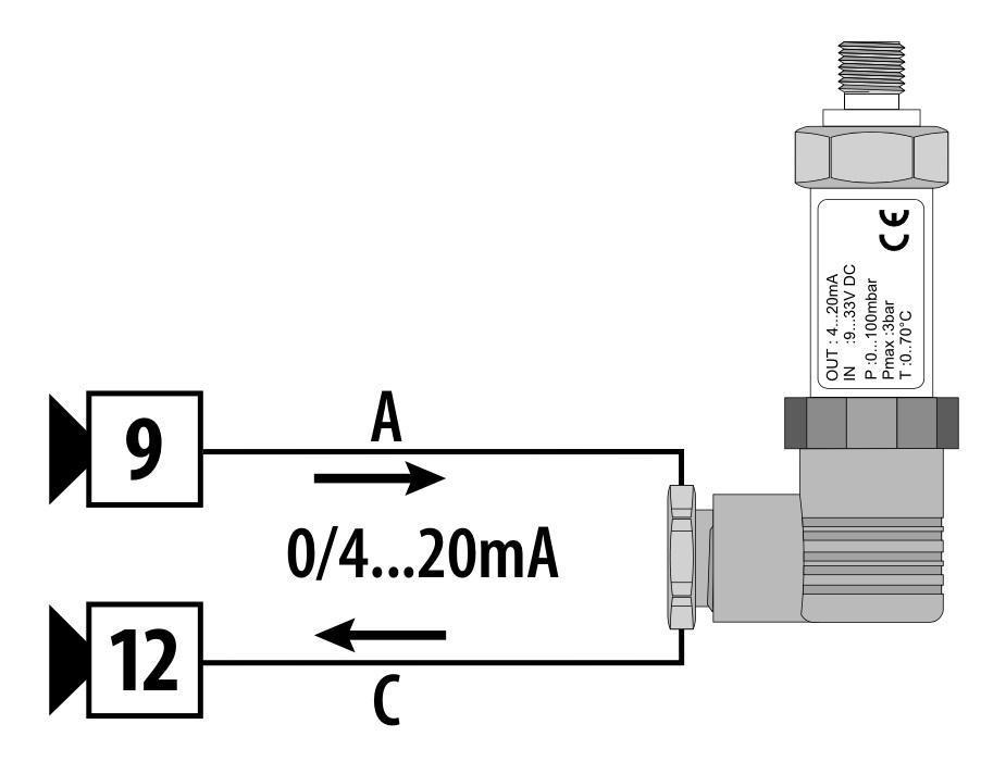 Cách đấu dây cảm biến áp suất 2 chân