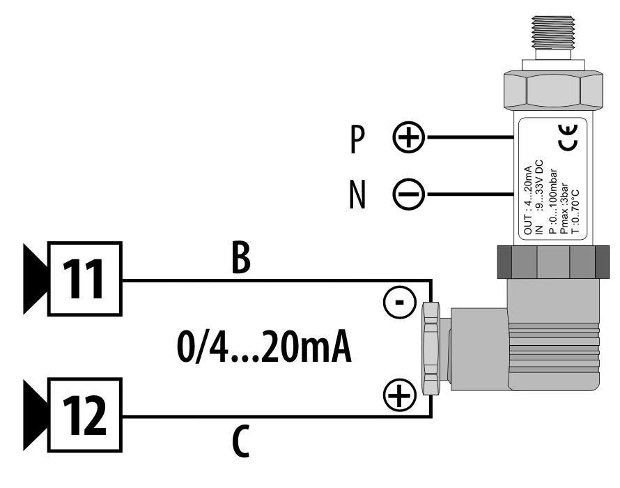 Cách đấu dây cảm biến áp suất 4 chân