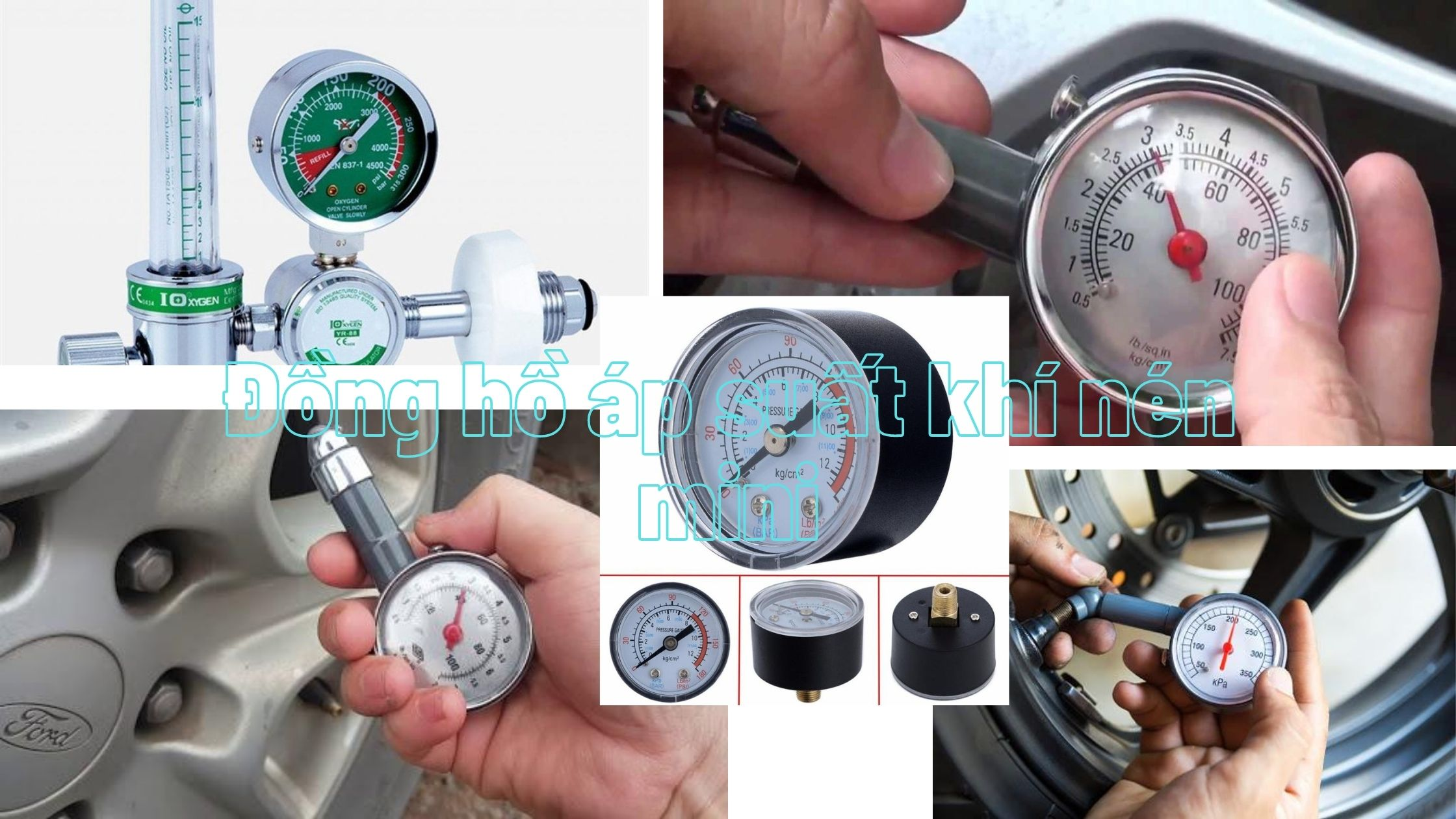 Đồng hồ đo áp suất khí nén mini