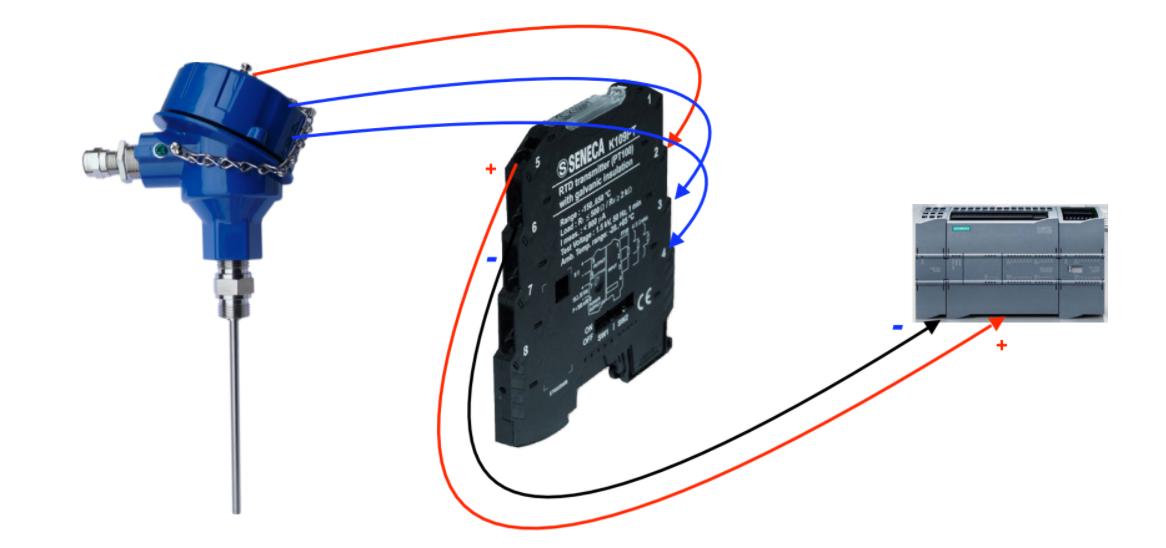 Bộ chuyển đổi tín hiệu nhiệt độ Pt100 Seneca K109Pt