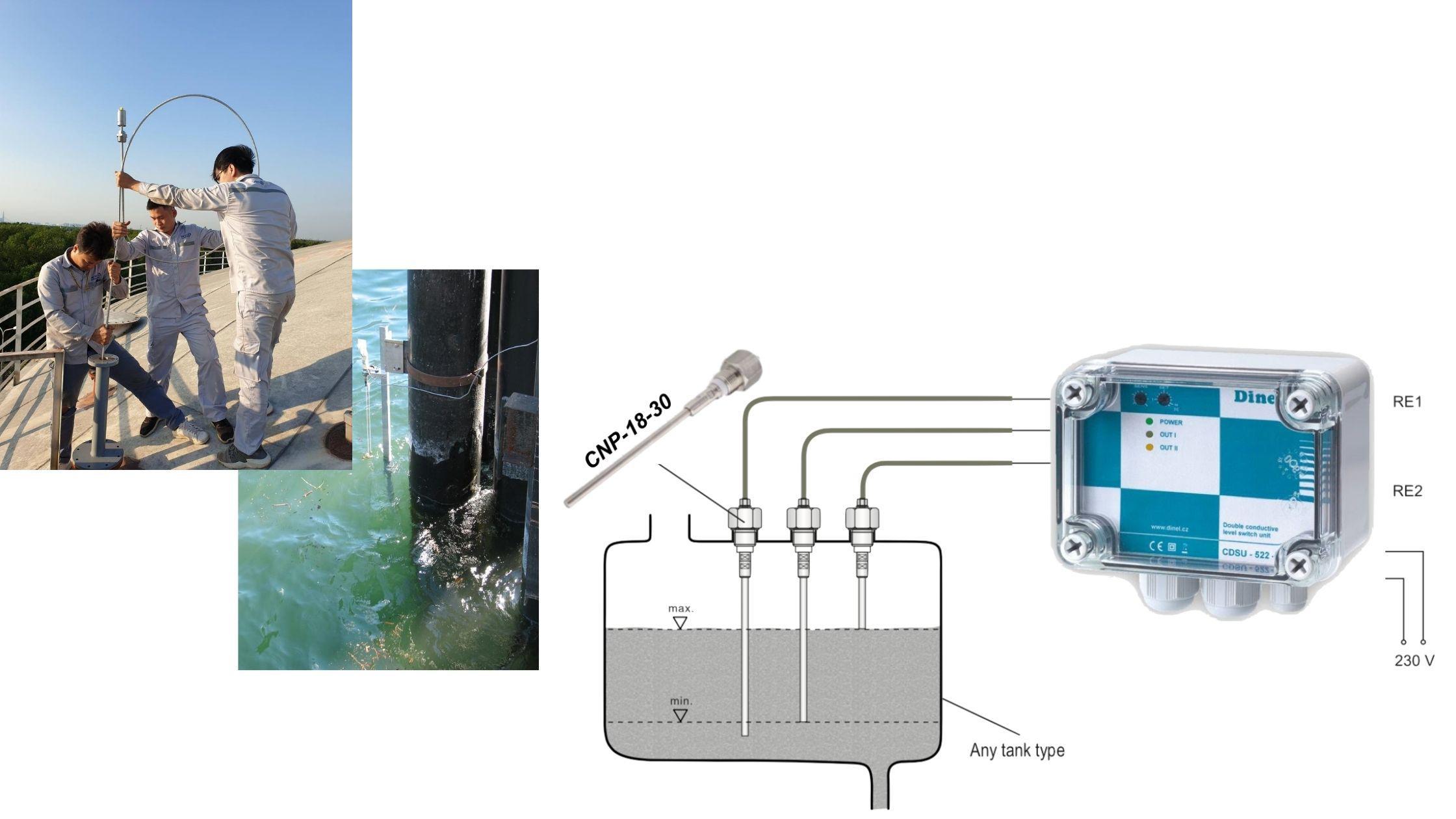 Ứng dụng que đo mức nước