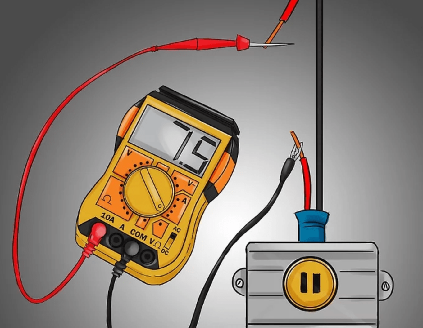 Cách sử dụng đồng hồ vạn năng để đo dòng điện