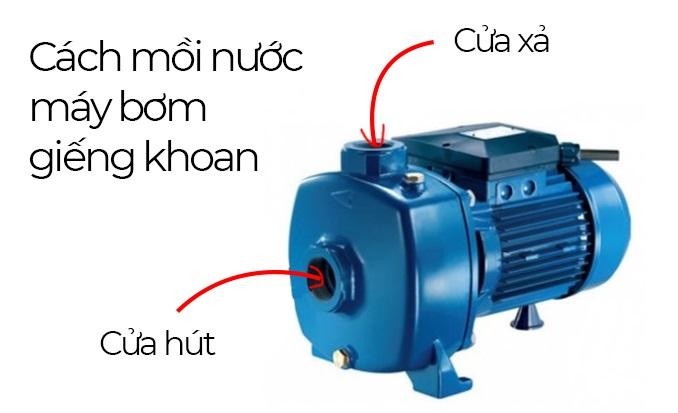 Cách mồi nước cho máy bơm nước giếng khoan