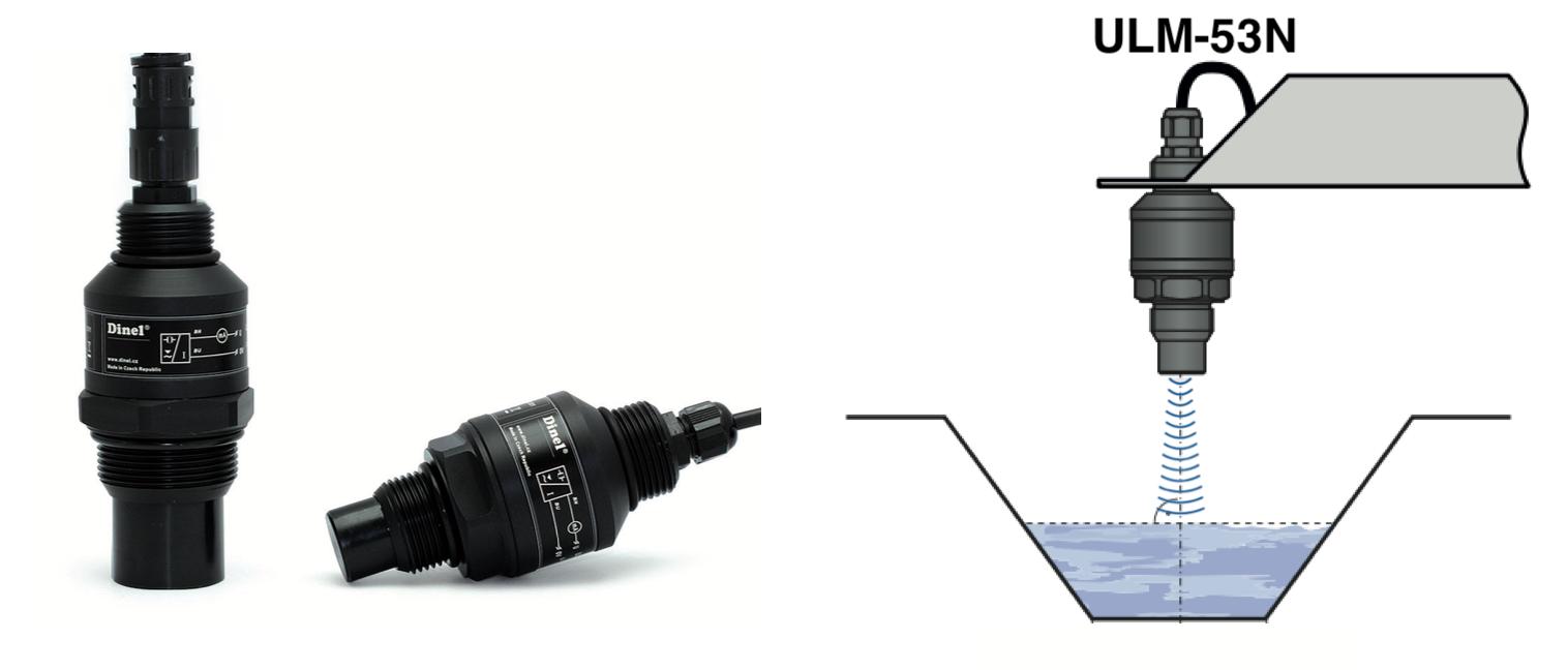 Cảm biến siêu âm đo mức nước ULM-53N