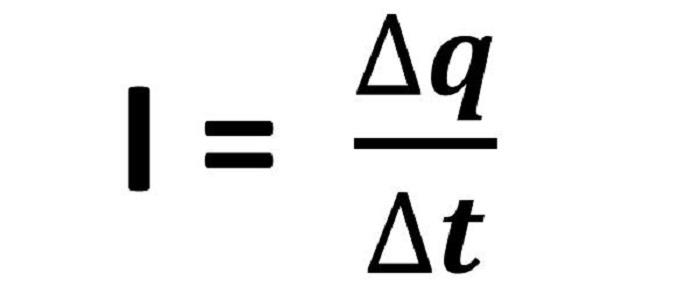 Công thức xác định cường độ dòng điện