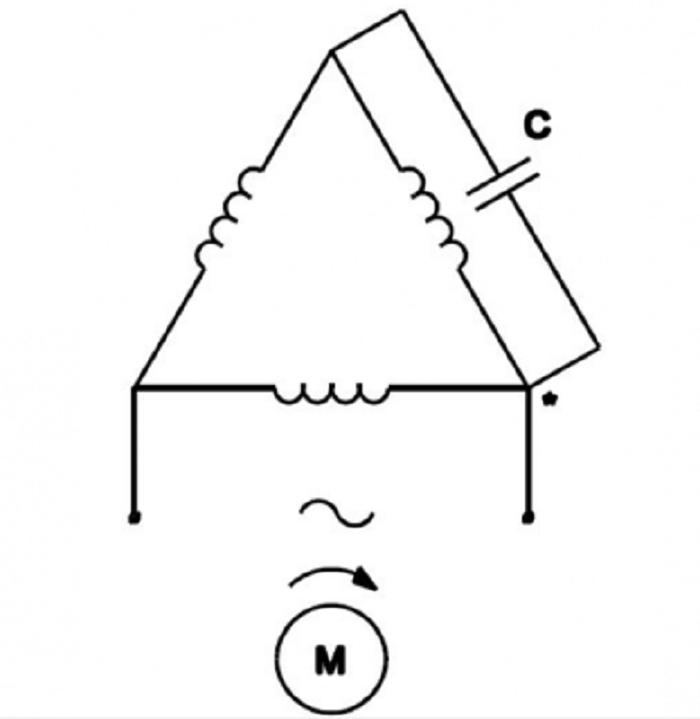Kết nối với động cơ theo mô hình tam giác