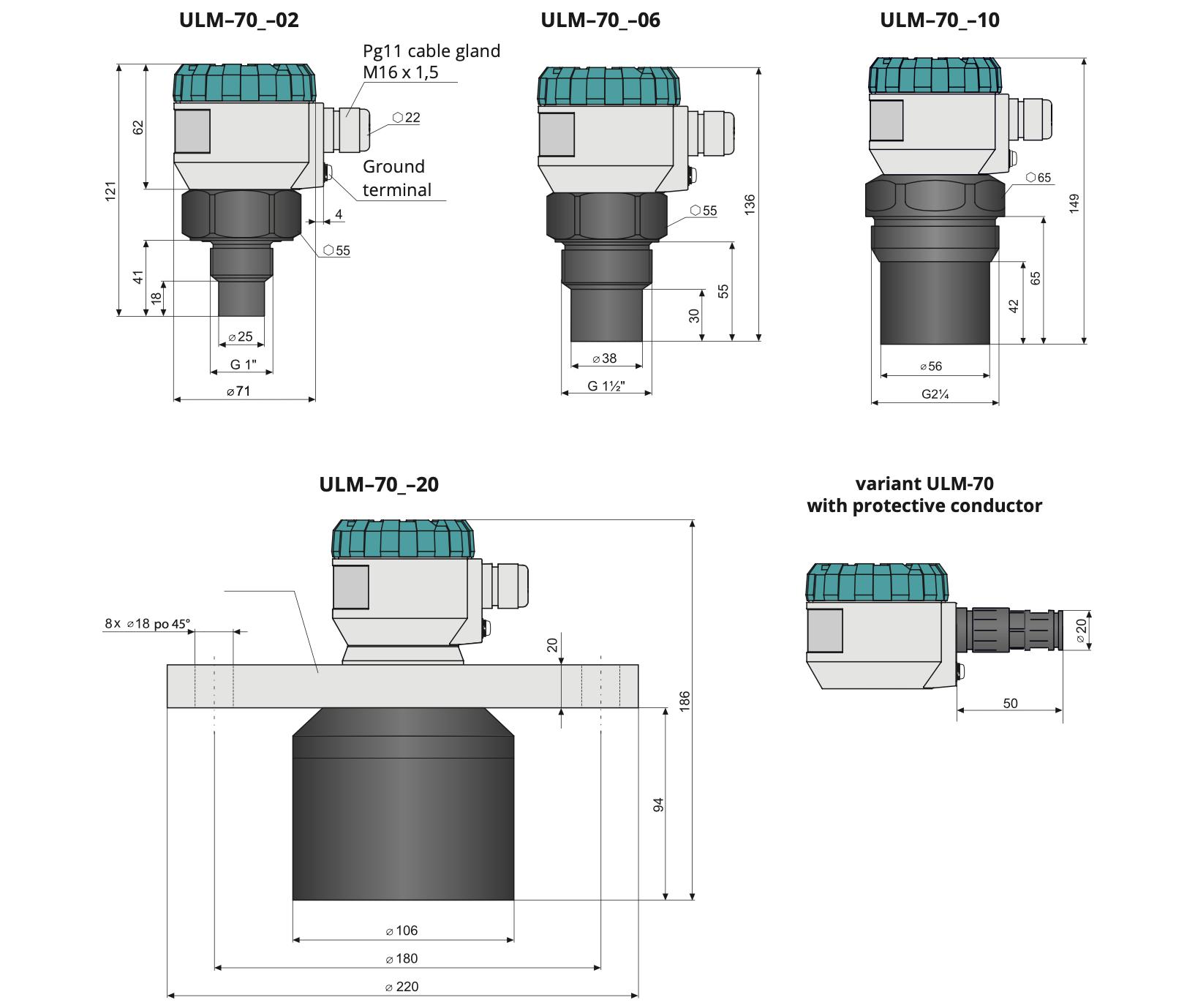 Các loại cảm biến siêu âm ULM-70N